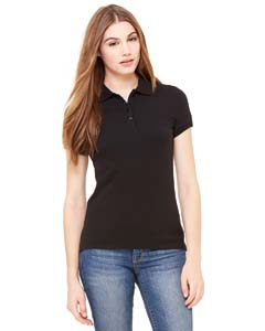 Bella + Canvas B750 Ladies' Cotton Spandex Mini Piqué Short-Sleeve Polo